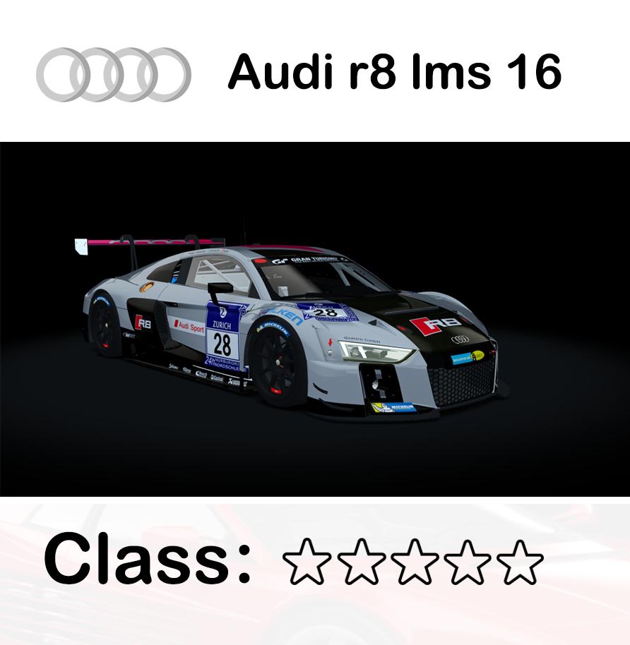 Audi r8 lms 16