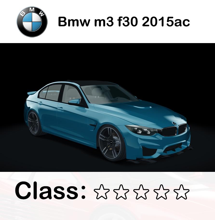 Bmw m3 f30 2015ac