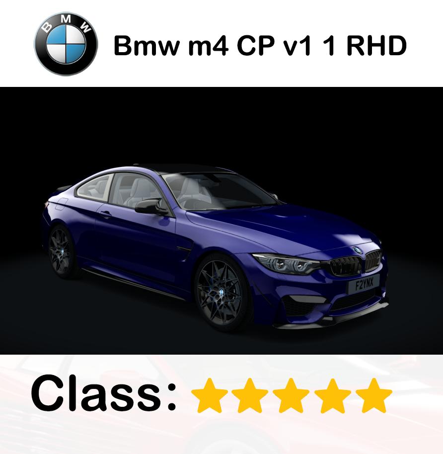 Bmw m4 CP v1 1 RHD